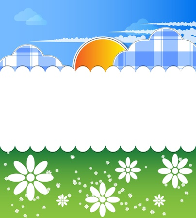 baby nice card with clouds  Vector