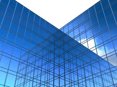 modern glass skyscrapers photo