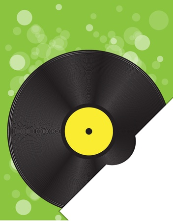 gold record: vinyl disc background for text