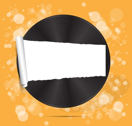 vinyl disc background for text  Vector