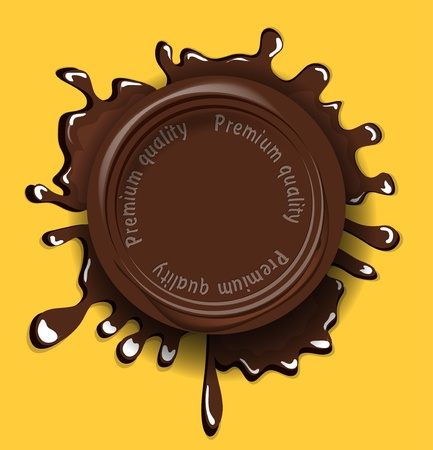 drink milk: Chocolate seal background
