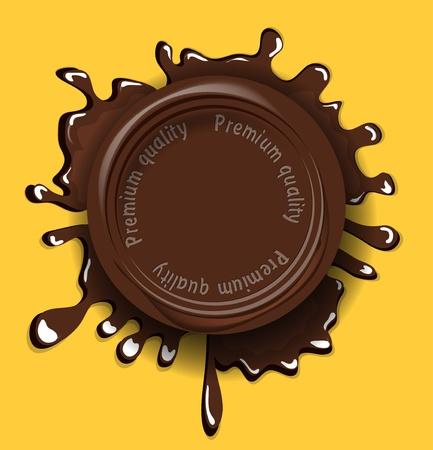 hot chocolate drink: El chocolate de fondo del sello