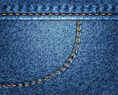 clothing label: Jeans vector background