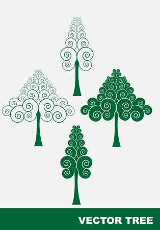 Stylized abstract tree vector Stock Vector - 13292621