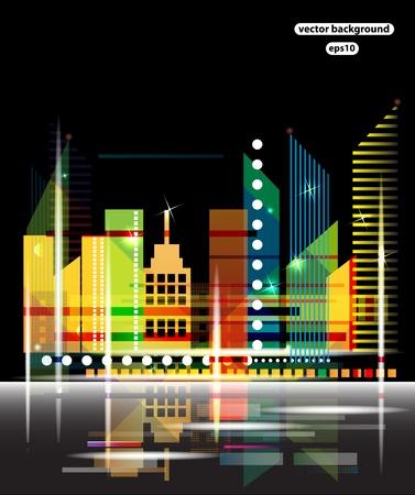 rural skyline: City Landscape vector Illustration