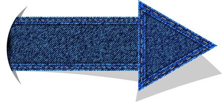 Jeans arrow vector Stock Vector - 13328174