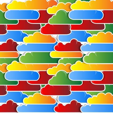 cloud sky background Stock Vector - 13345902