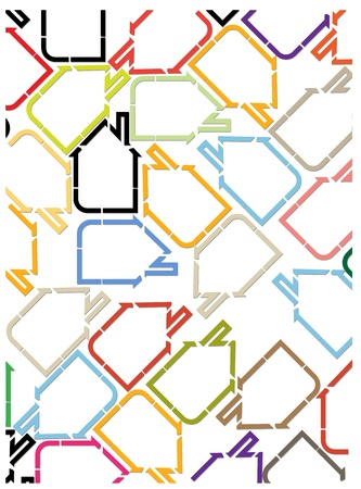 city real estate house background Stock Vector - 13477733