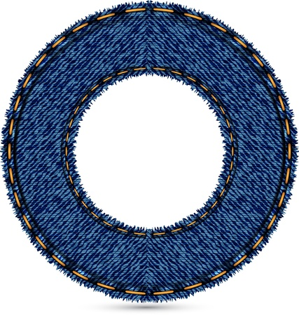 leather stitch: jeans wheel background