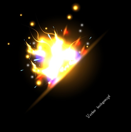 solar flash eclipse. abstract fire Vector