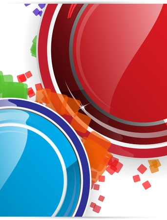 Circle button abstract background Stock Vector - 13535499