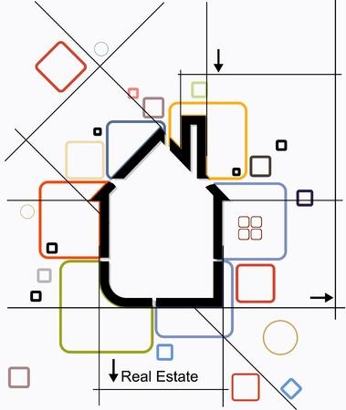 city real estate circuit vector Vector