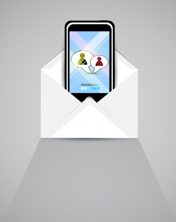 mobile communication: Smart phone send and recive letters