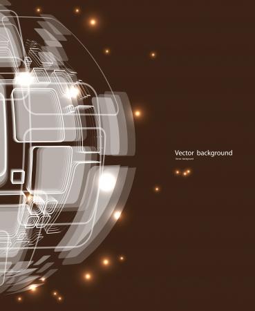 conexiones: mundo abstracto alambre de la tecnolog�a de dise�o de fondo