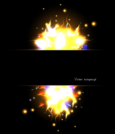 solar flash explosion  abstract fire Vector