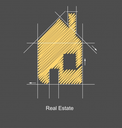 real estate icons: city real estate circuit project Illustration