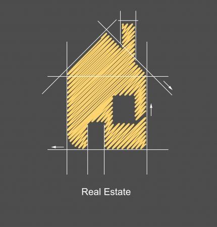 housing: la ciudad de bienes ra�ces del proyecto de circuito Vectores