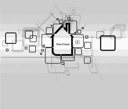 apartment market: la ciudad de bienes ra�ces del proyecto de circuito Vectores
