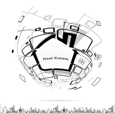 circuit sale: city real estate circuit project Illustration