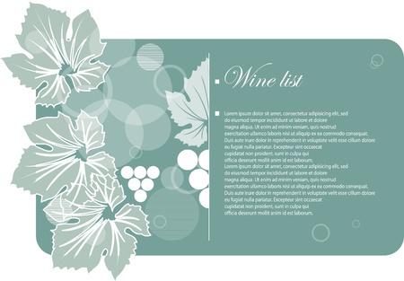 wine frame site design Vector