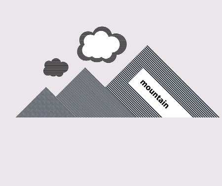 range of mountains with clouds  Stock Vector - 13895048