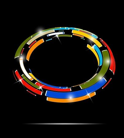 Abstract technology circle on dark  Vector