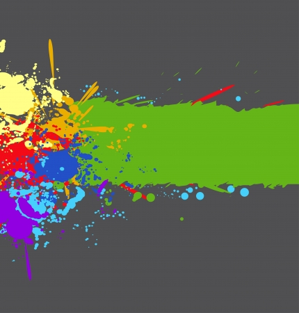 Color rainbow paint splashes for background Stock Vector - 13980246