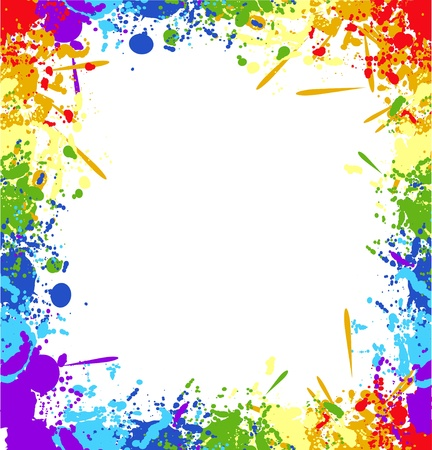 Color rainbow paint splashes for background vector eps Stock Vector - 13980251