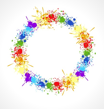 Color rainbow paint splashes for background vector eps Stock Vector - 13980252