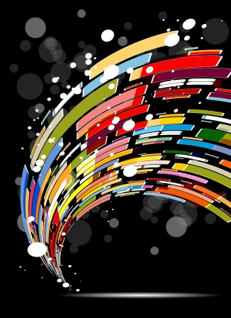 abstract technology background: abstract dark colorful technology background