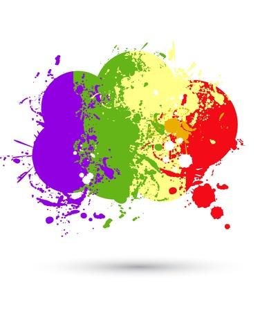 Color paint splashes cloud for background Vector