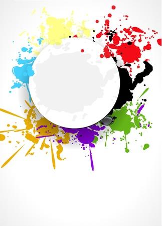abstract splash background design illustration Vector
