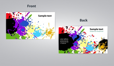 art business card splash design illustration Vector