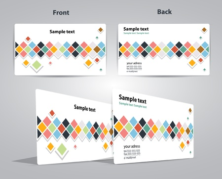 business card cube design illustration Vector