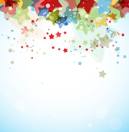 confetti background: abstract color stars background Illustration