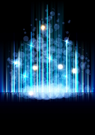 north star: Abstract space forest vector background with north star way