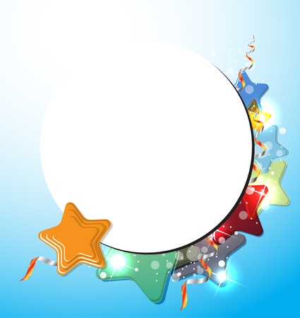 small group of object: abstract color stars background Illustration