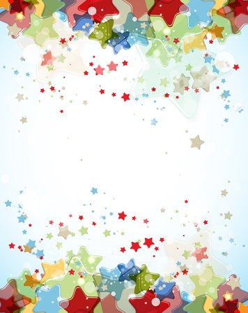 abstract light color stars background Stock Vector - 14164023