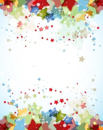 estrellas: resumen de estrellas color de la luz de fondo