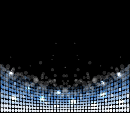 floor ball: abstract disco light stars background