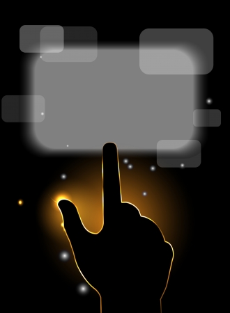 flash hand touch web screen button Vector