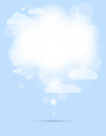 day dream: abstract speech white shining cloud  Illustration