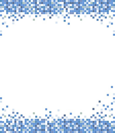 abstract blue mosaic  Vector