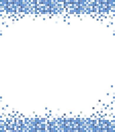 abstract blue mosaic Stock Vector - 14305248