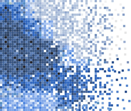 abstract blue pixel mosaic Illustration