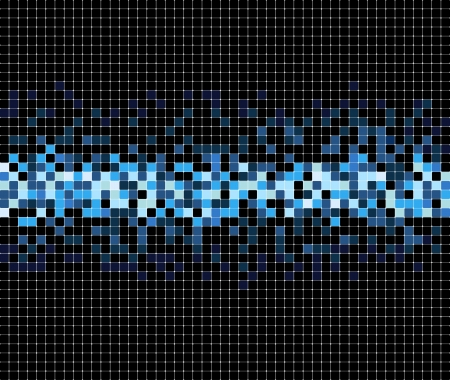pixels: abstract blue pixel mosaic