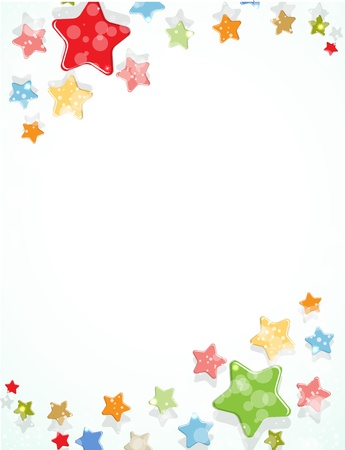 abstract light color stars fly vector background