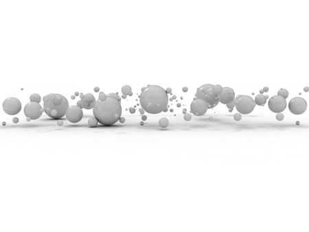 globule: abstract business bubbles background in grey color