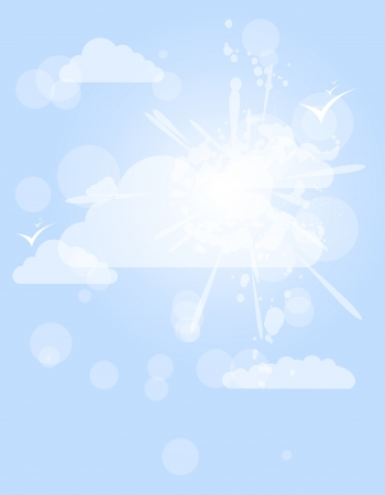 abstract splash white shining cloud vector background Vector