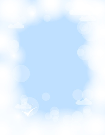 abstract white shining cloud vector background Vector